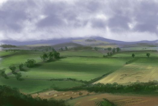 60 Minute Speedpaint : Northumberland. by Cluly