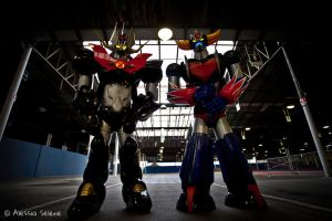 Ufo Robot Grendizer and Mazinkaiser by AleSelene