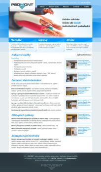 Psomont mini site by Tydlinka