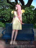 Relaxing Fluttershy Cosplay by goomzz