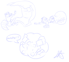 giant diaper attack by Argles