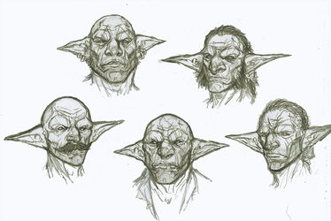 Goblin Face archetype Sketches by OnHolyServiceBound