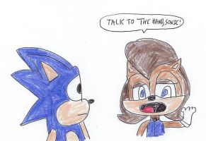 Sonic and Sally Acorn - Talk to the Hand by dth1971