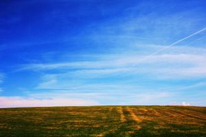 Sky and Field by kErstinR