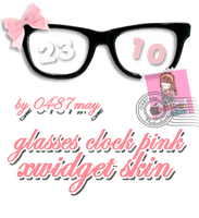 Glasses Clok, Xwidget skin by may0487