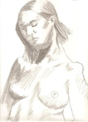 Nude in pencil by juani-hokshana