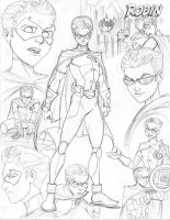 Young Justice CD Robin by nathanscomicart