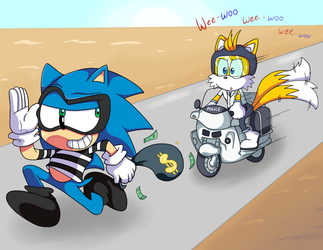 Sonic and Tails Play Cops and Robbers! by DoctorDetectiveMike