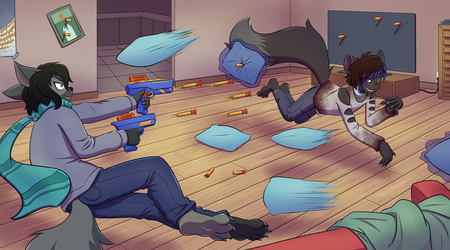 [commission] pillowfight by TheNekoboi