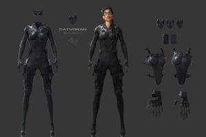 CatWoman ConceptPainting1 v5c 3DPrintableParts by XanderSmithDesign