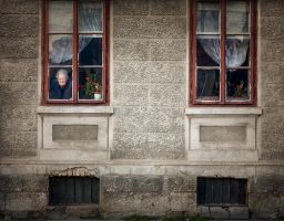 Face on a Window by meaniebeanie