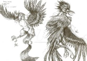 Comm: Realistic Zapdos and Articuno by Pepperoonie