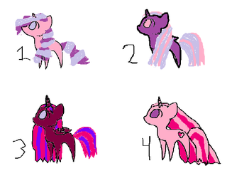 Pony  Adoptables by candyland21