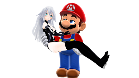 Mario x Black Heart MMD by FcoMk513