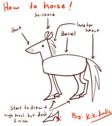 HOW TO HORSE: A TUTORIAL by kiki-doodle