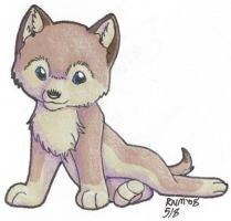 Cute Wolf Pup -- Shaded by Amritha