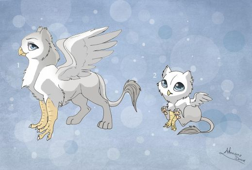 [Closed] New Adoptables: Gryphons by Almairis
