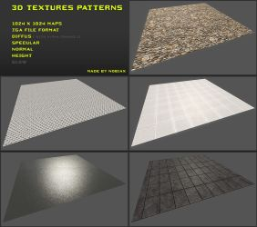 Free 3D textures pack 10 by Yughues