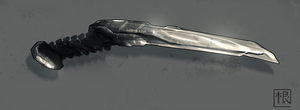 Most likely a knife. by DaveRabbit