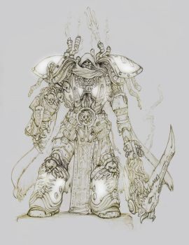 Primarch Mortarion by moorkasaur