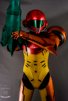 Samus Cosplay - Proceed with Caution by d-slim