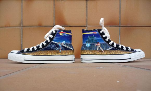 Street Fighter Converse chucks by Maya-Plisetskaya