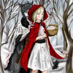 Red Riding Hood and the Wolf by ThatWeirdKid18