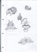 Pokemon Sketches by Gaar-uto