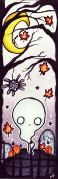 Halloween Ghost Bookmark by TheKingOfMoths