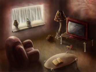 SCP Art: SCP-002 - The Living Room by GamingHedgehog