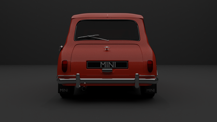 Austin Mini Cooper - Rear by TallPaul3D