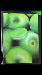 Green chalk apples by Nevarra13