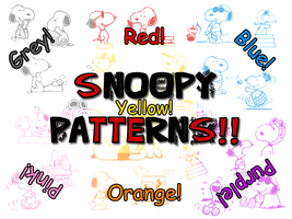 Funny Snoopy Patterns by Alywe