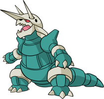 Shiny Aggron Global Link Art by TrainerParshen