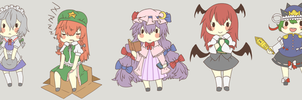 Touhou Commissions by Suikasen