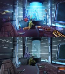 Captain's Quarters - BEFORE and AFTER by cylonka