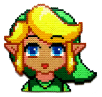 Link Perler Portrait by Aenea-Jones