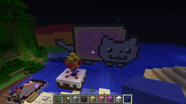 Nyan Cat In Minecraft (Angle 4) by RachyTehPengie