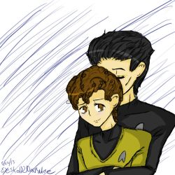 Khan x Chekov by ThePastelHobbit