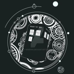 Negative Space Tardis with Doctor's Name by Mime666