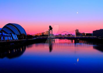 Clydeside Sunset 2 by Crannogphotographic