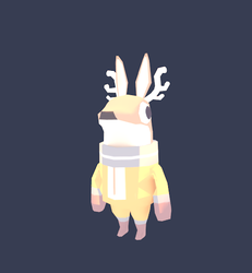 Space Deer 3D model by IndianaJonas