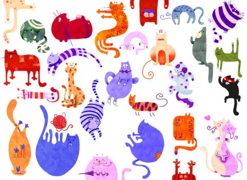 It,s raining cats by RocioGarciaART