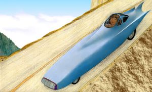 Velomobile in action by MuscleWomen-Planet