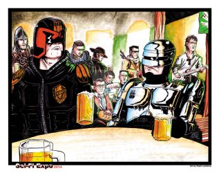Two Super Cops Walk into a Bar... by Barnlord