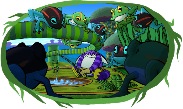 Big in Frog Forest by The-Quill-Warrior