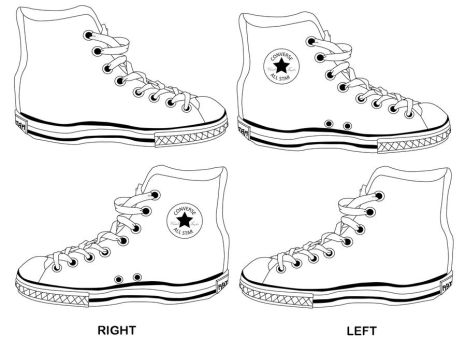 converse shoes black and white template birthday