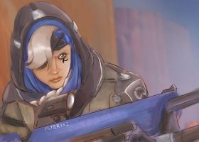 Ana Amari Overwatch by Peter1x2