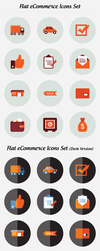 Flat eCommerce Icons Set Free Download by DesignsCanyon