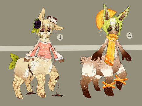Dessert Monsters::Chocolate Bunnytaurs CLOSED by Pandastrophic